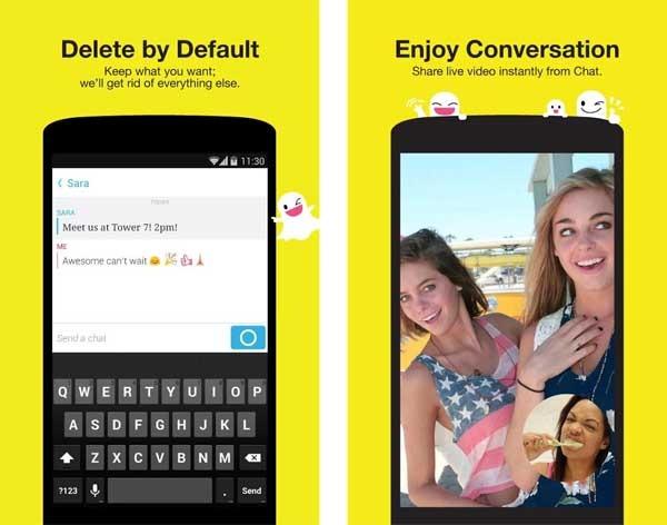 snapchat videollamadas
