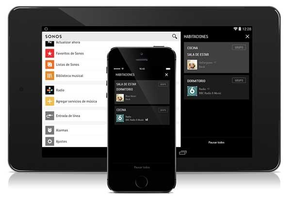 La App de Sonos se renueva para ofrecer música a la carta en casa