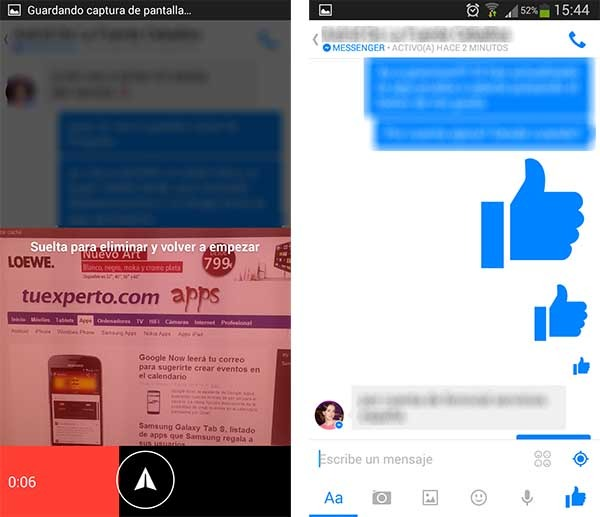 facebook messenger vídeos cortos