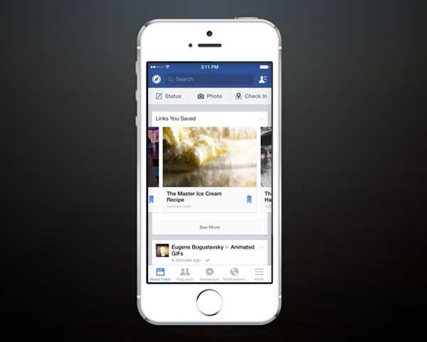 Facebook permitirá guardar contenidos para ver más tarde