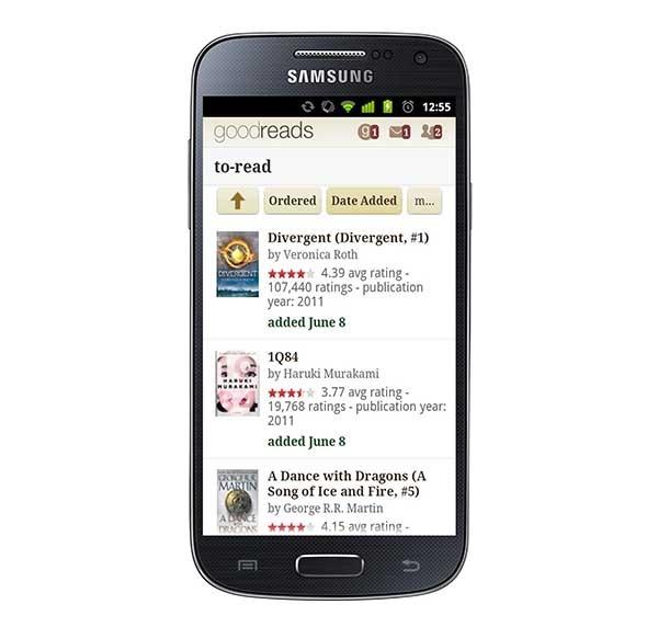 Goodreads, un completo recomendador de libros para el móvil