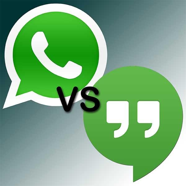 WhatsApp o Hangouts, comparativa frente a frente