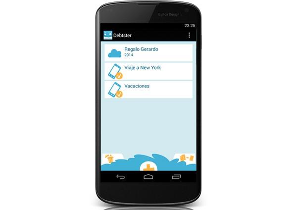 Debtster, una aplicación para Android que permite controlar gastos en grupo