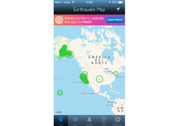 Mejores aplicaciones para seguir terremotos desde el iPhone