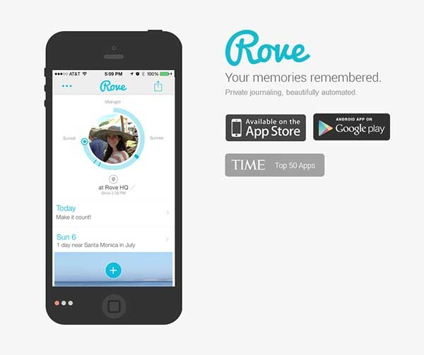 Rove, todo un diario personal para móviles
