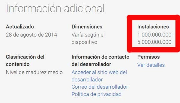 facebook mil millones android
