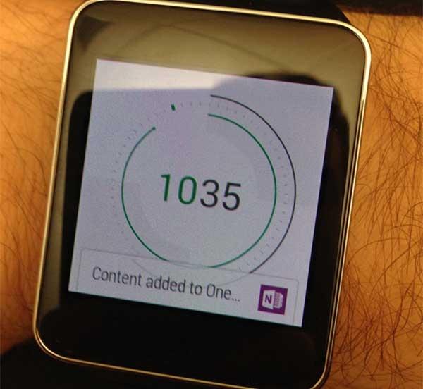 OneNote, la app de notas de Microsoft llega a los relojes Android Wear