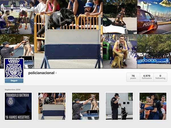 La Policía Nacional estrena con éxito su cuenta en Instagram