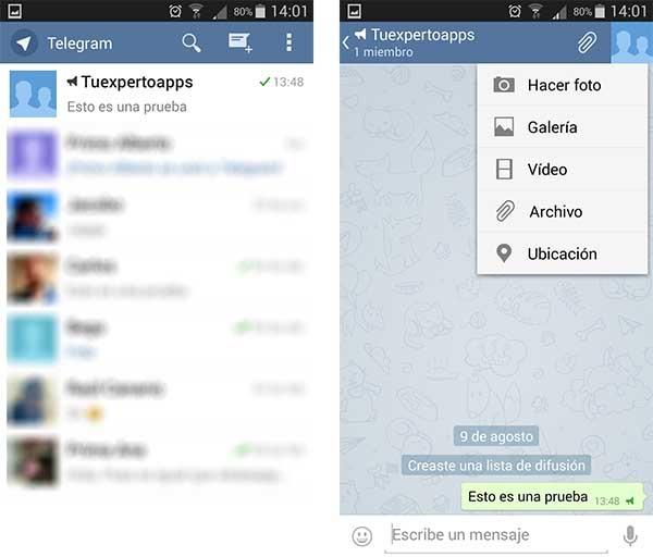 telegram descarga automática
