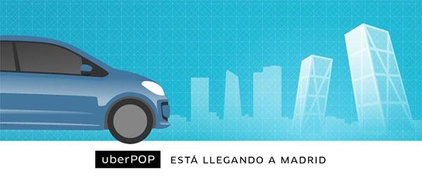 Uber, el servicio de transporte más barato que el taxi llega a Madrid