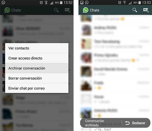 La app de mensajería WhatsApp guarda automáticamente el historial de conversaciones en el teléfono