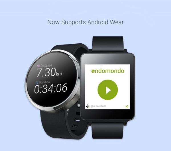 Endomondo ya registra tu actividad física desde un reloj Android Wear