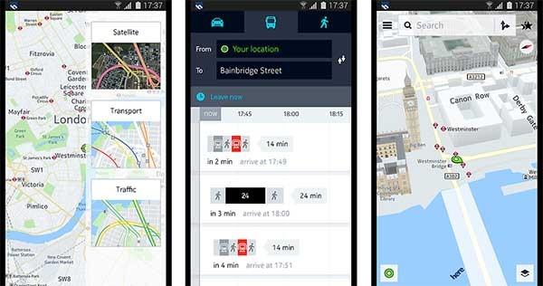 HERE Maps, los mapas de Nokia llegan a los Samsung Galaxy ...