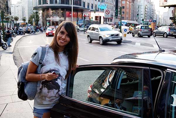 uber perseguida en Madrid