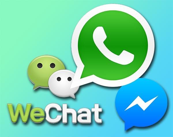 WhatsApp, WeChat y Facebook, las apps de mensajería más utilizadas
