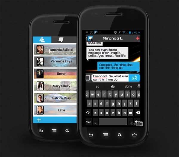 Beam, una app de mensajes que envía lo que escribes en tiempo real