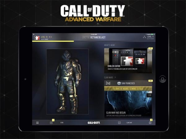 Call of Duty Advanced Warfare ya tiene su app compañera
