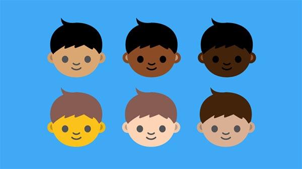 Proponen crear toda una diversidad racial de emoticonos Emoji