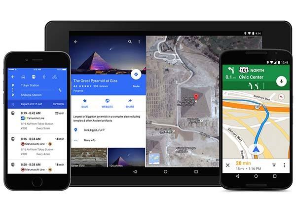 Google Maps también acoge el nuevo estilo de Android Lollipop