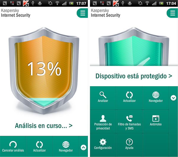 Android antivirus Kaspersky
