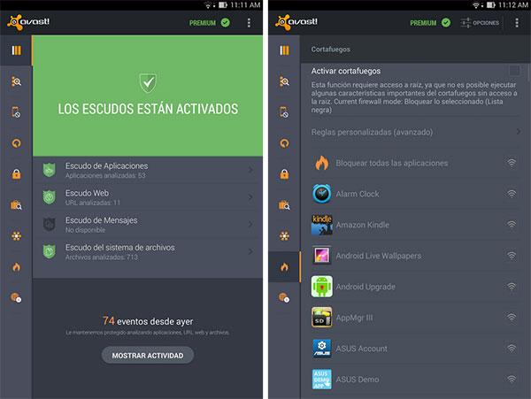 Android antivirus avast
