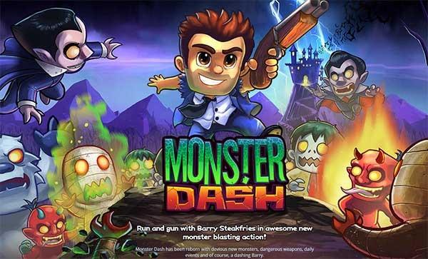 Monster Dash, un frenético juego de carreras y disparos para el móvil