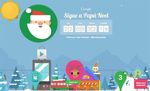 Santa Tracker, persigue a Papá Noel y juega con esta app