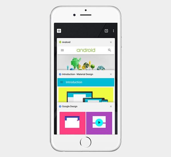 Google Chrome también mejora su aspecto y posibilidades para iPhone