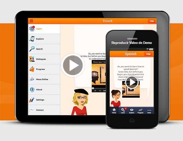 Mosalingua, aprende idiomas con este método en aplicaciones para móviles