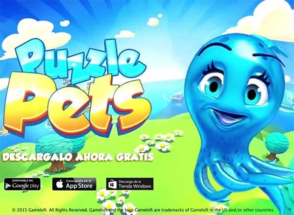 Puzzle Pets, el juego a lo Candy Crush Saga de Gameloft