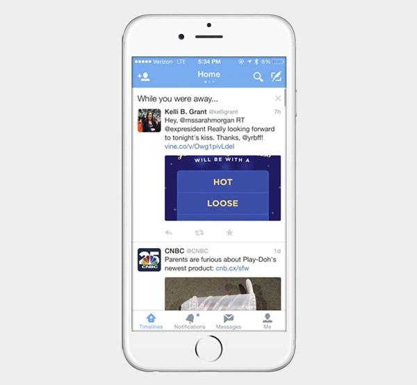 Twitter ya muestra mensajes publicados cuando el usuario no miraba