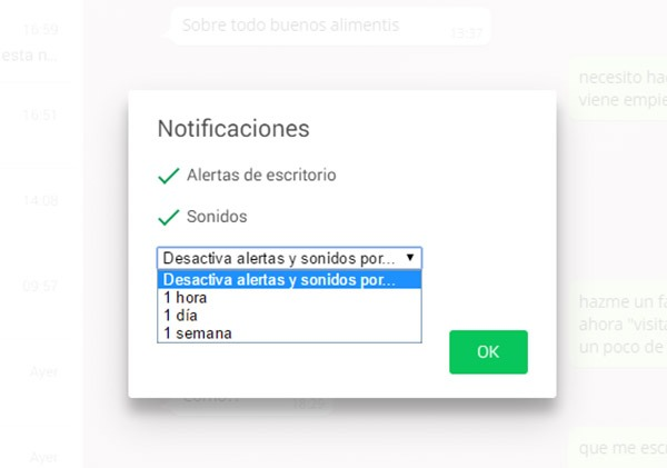 whatsapp web notificaciones