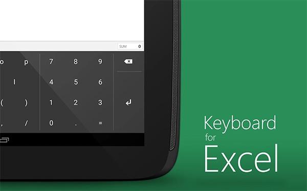 Keyboard for Excel, el teclado numérico de Microsoft para tabletas Android
