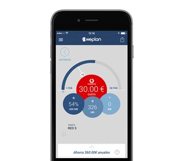 Weplan, ahorra en tu tarifa de móvil ahora también desde iPhone