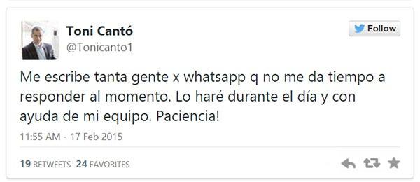 whatsapp política