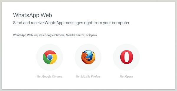 whatsapp web opera firefox