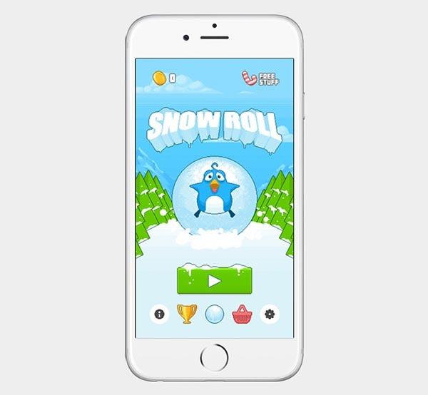 Snow Roll, un juego que está llamado a ser el sucesor de Flappy Bird
