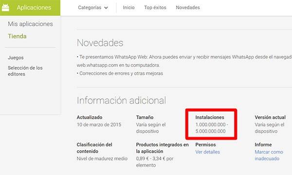 whatsapp descargas Android