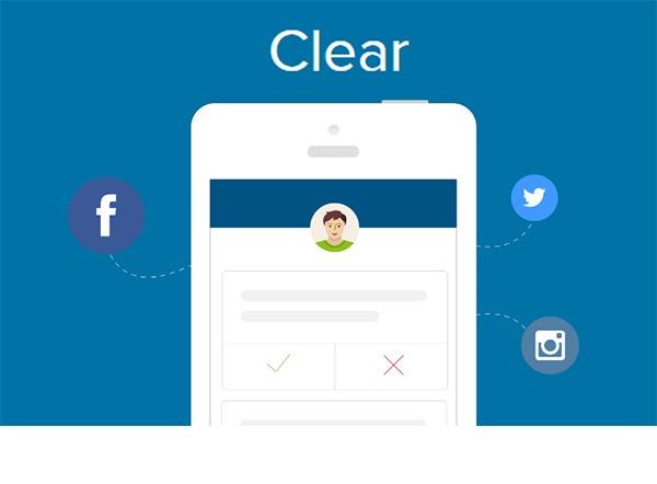 Clear App borra las publicaciones comprometidas de tus redes sociales