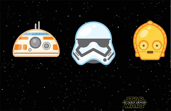 Twitter estrena emoticonos Emoji de Star Wars VII