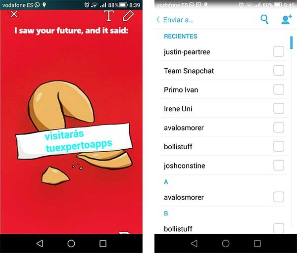 snapchat compartir discover