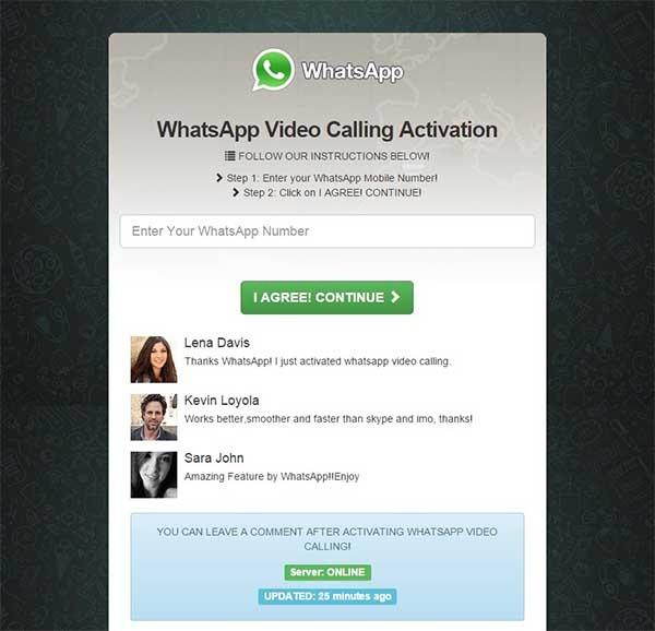 whatsapp videollamadas timo