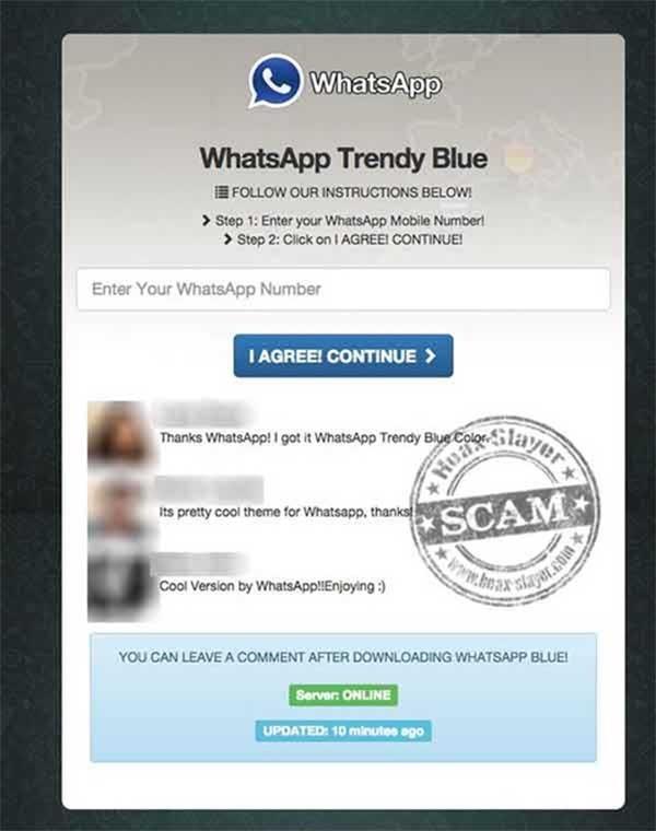 whatsapp trendy blue