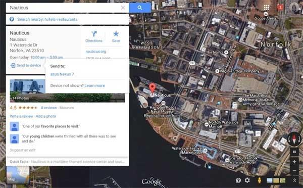Cmo enviar una direccin de google maps desde el pc al mvil google maps enviar direcciones gumiabroncs Choice Image