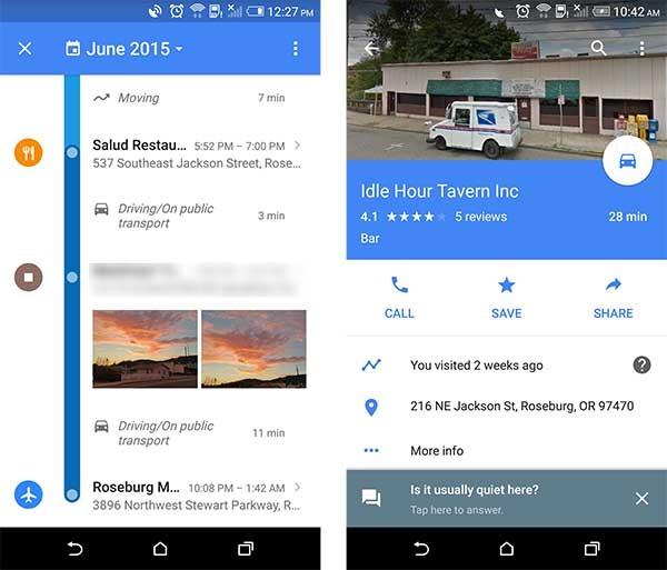google maps historial de ubicaciones