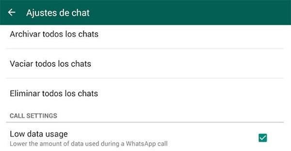 reducir datos llamadas de whatsapp