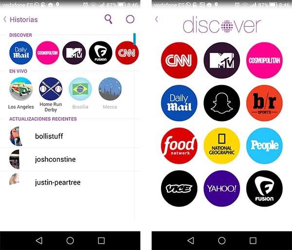 snapchat whatsapp discover