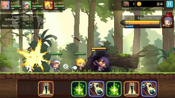 Crusaders Quest, vuelve el RPG de 16 bits a tu móvil Android