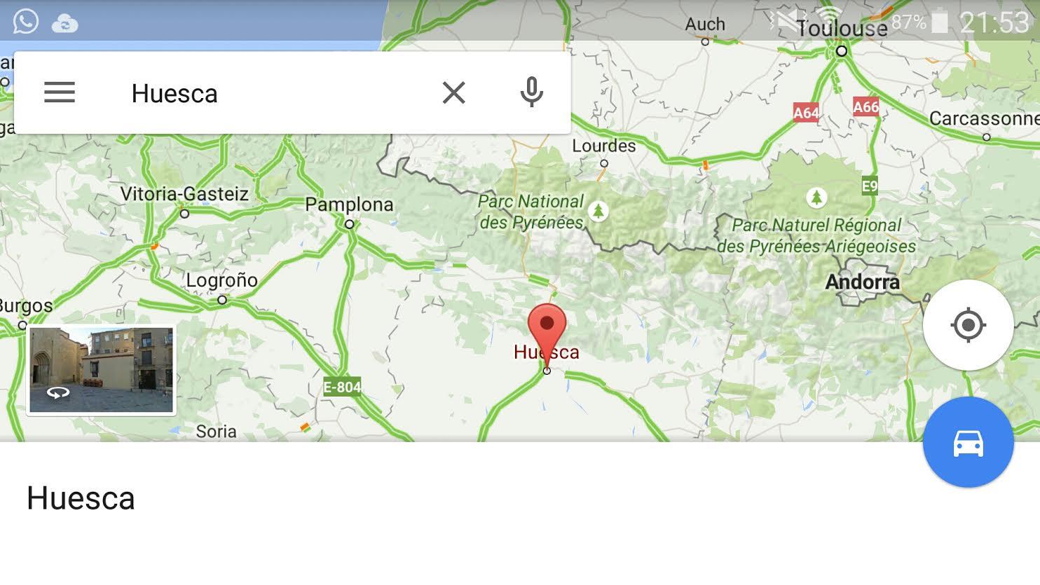 Google Maps se actualiza con miniaturas de Street View