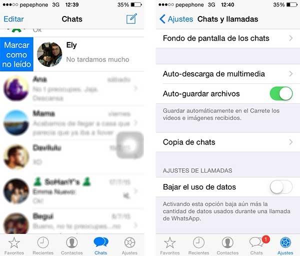 whatsapp notificaciones personalizadas iPhone